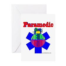 Paramedic Christmas Gifts Greeting Cards (Pk of 10