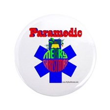 "Paramedic Christmas Gifts 3.5"" Button"