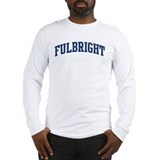FULBRIGHT design (blue) Long Sleeve T-Shirt