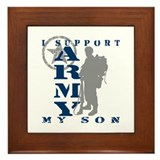 I Support Son 2 - ARMY Framed Tile
