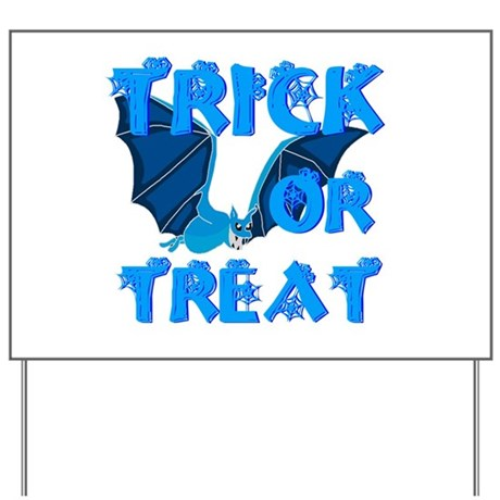 Trick or Treat Bat Yard Sign