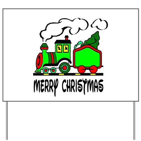 Christmas Train Yard Sign