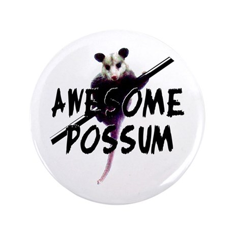 "Awesome Possum 3.5"" Button"