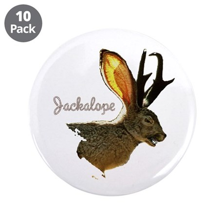 Jackalope 3.5&quot; Button (10 pack)