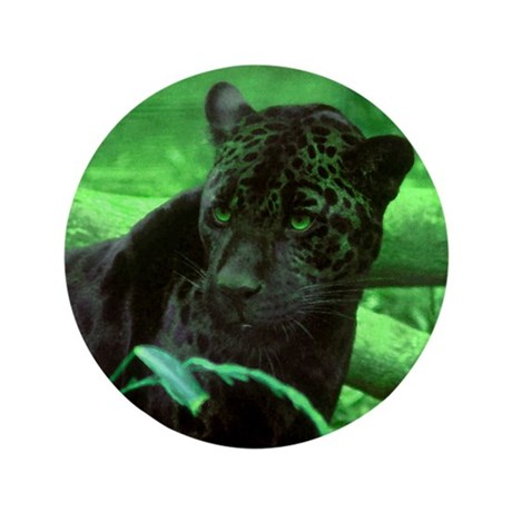 "Black Jaguar 3.5"" Button (100 pack)"