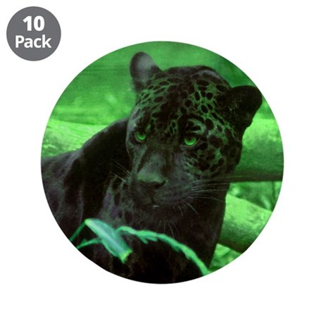"Black Jaguar 3.5"" Button (10 pack)"