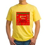 Keep Christmas Safe Boycott C Yellow T-Shirt