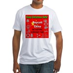 Keep Christmas Safe Boycott C Fitted T-Shirt