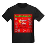Keep Christmas Safe Boycott C Kids Dark T-Shirt