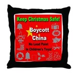 Keep Christmas Safe Boycott C Throw Pillow