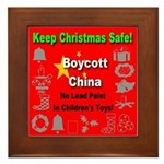 Keep Christmas Safe Boycott C Framed Tile