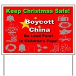 Keep Christmas Safe Boycott C Yard Sign