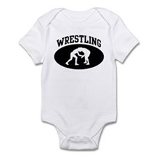 Wrestling (BLACK circle) Onesie