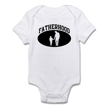 Fatherhood (BLACK circle) Infant Bodysuit