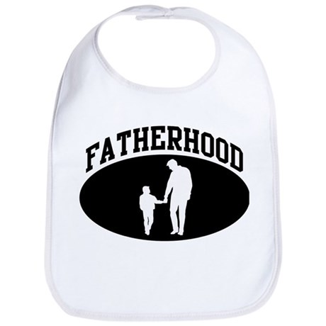 Fatherhood (BLACK circle) Bib