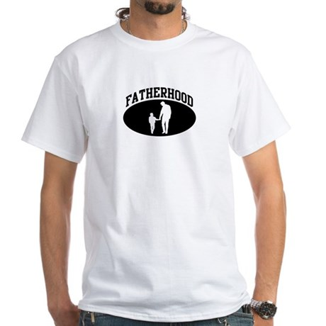 Fatherhood (BLACK circle) White T-Shirt