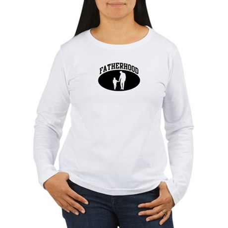 Fatherhood (BLACK circle) Women's Long Sleeve T-Sh