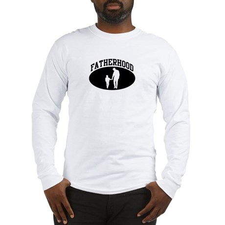 Fatherhood (BLACK circle) Long Sleeve T-Shirt