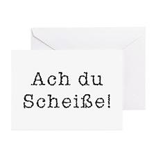 Ach du Scheisse Greeting Cards (Pk of 20)