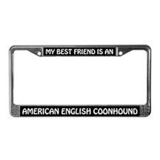 American English Coonhound (friend) License Frame