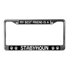 My Best Friend Is A Stabyhoun License Plate Frame