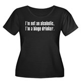 Alcoholic Binge Women's Plus Size Scoop Neck Dark