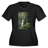Oregon - Multnomah Women's Plus Size V-Neck Dark T