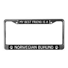 My Best Friend Is A Norwegian Buhund License Frame