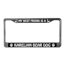 Best Friend Is A Karelian Bear Dog License Frame