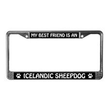 Best Friend Is An Icelandic Sheepdog License Frame