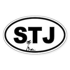 St. John's STJ Beach Beauty Oval Decal