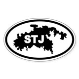 St. John's STJ Map Oval Decal