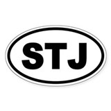 Basic St. John's STJ Oval Bumper Stickers
