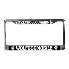 Czechoslovakian Wolfdogmobile License Plate Frame