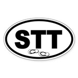 St. Thomas STT Flip Flops Oval Decal
