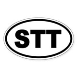 St. Thomas STT Oval Decal