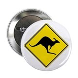 "Kangaroo Crossing, Australia 2.25"" Button (100 pac"