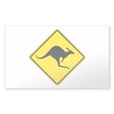 Kangaroo Crossing, Australia Rectangle Decal