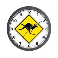 Kangaroo Crossing, Australia Wall Clock