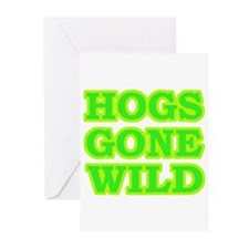 Green Hogs Gone Wild Greeting Cards (Pk of 10)