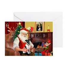Santa's smooth Fox T Greeting Card