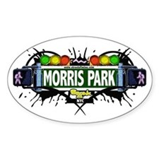 Morris Park (White) Oval Decal