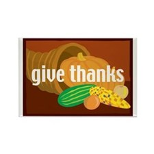 Cornucopia Give Thanks Rectangle Magnet