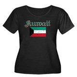 Kuwaiti Flag Women's Plus Size Scoop Neck Dark T-S