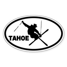 Tahoe Skier Oval Decal