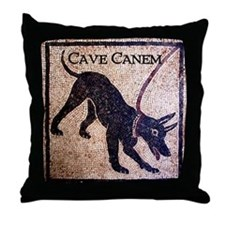 """Cave Canem"" Throw Pillow"