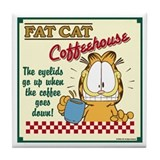 Coffeehouse Garfield Tile Coaster