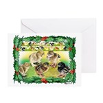 Chicks For Christmas! Greeting Cards (Pk of 10)