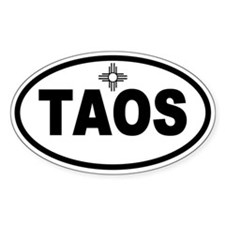 Taos Oval Decal