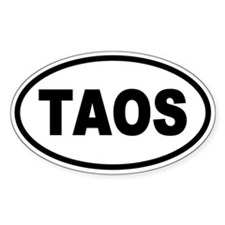 Basic Taos Oval Decal